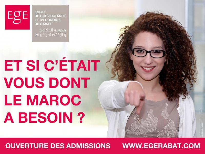 Affiche publicitaire pour EGE.