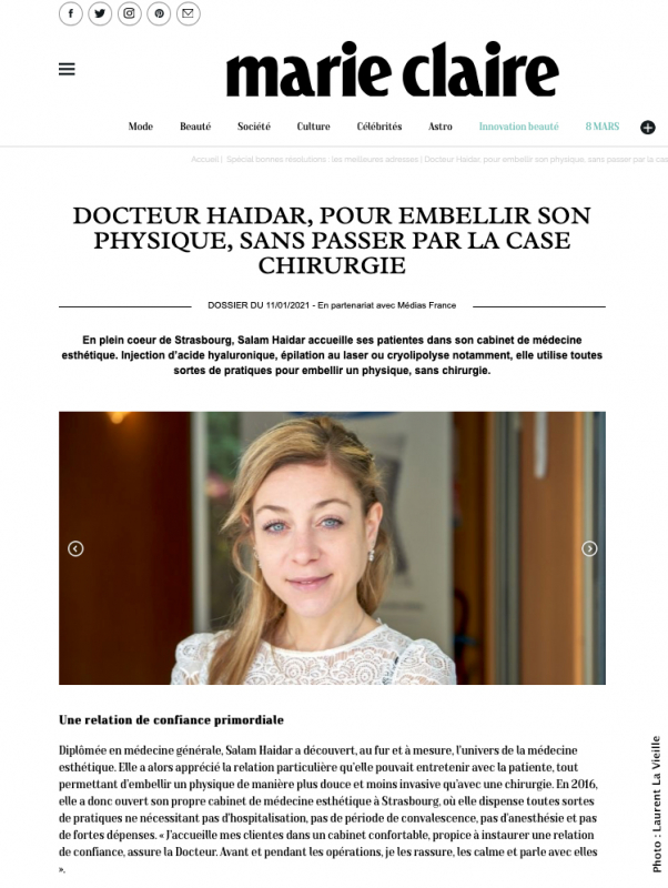 Article pour Marie Claire