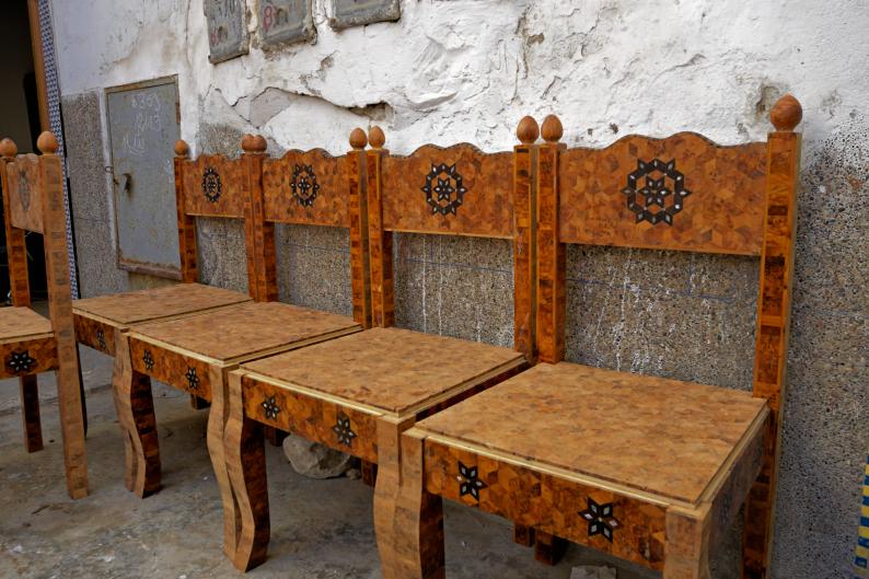 Essaouira, le tuya